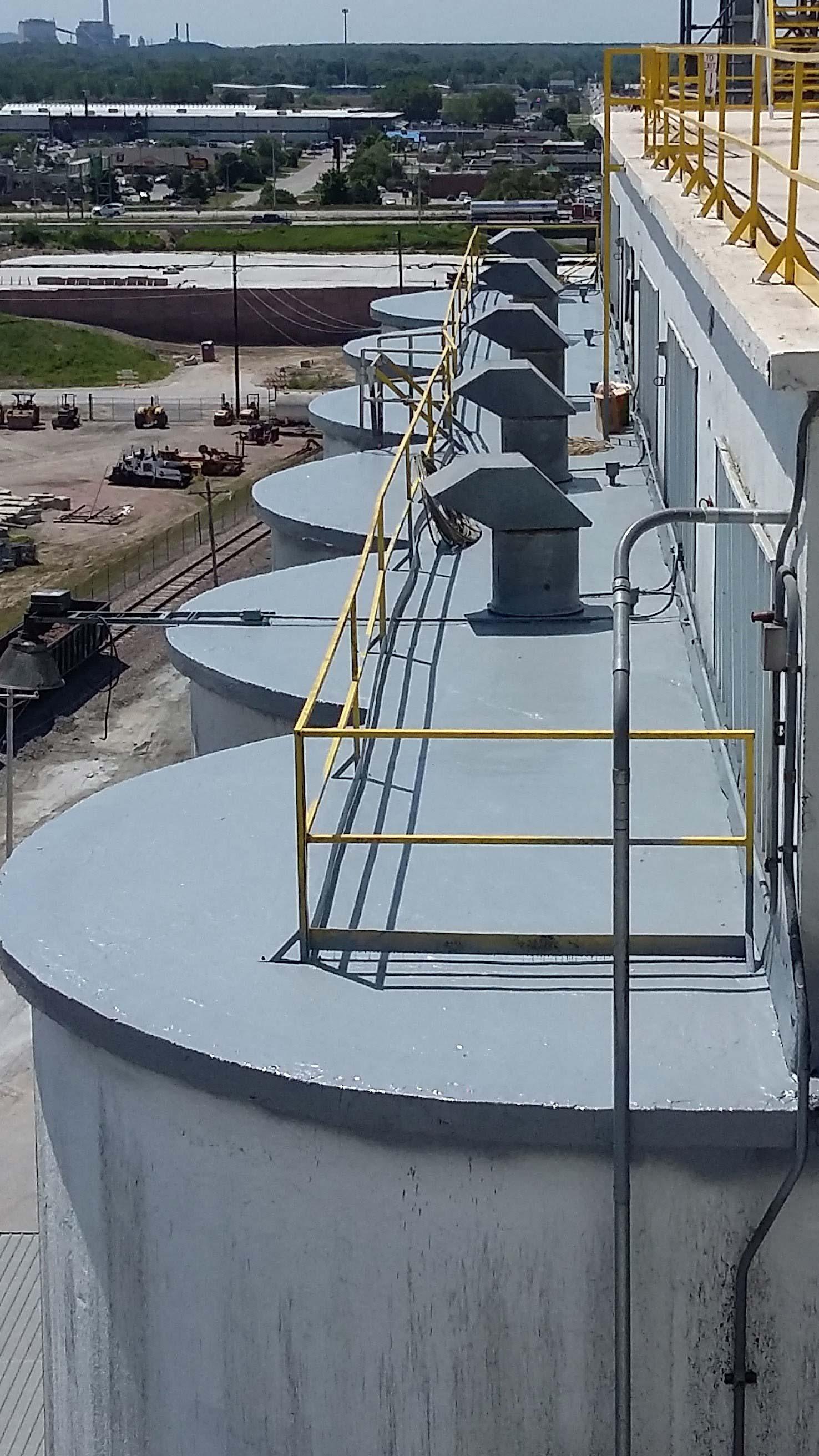 Meyer Method 380, rehab / restored silo roof
