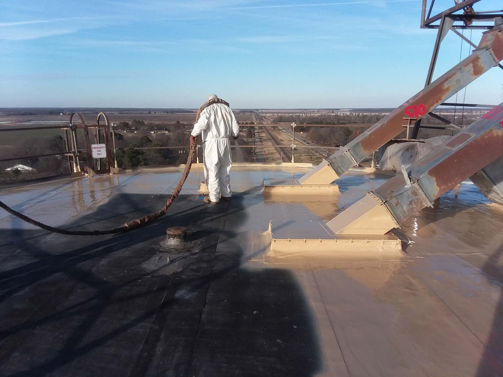 Meyer Method 380, silo roof