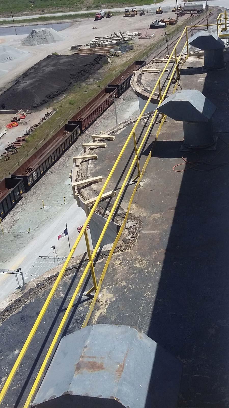 Silo Prep, Roof Deterioration