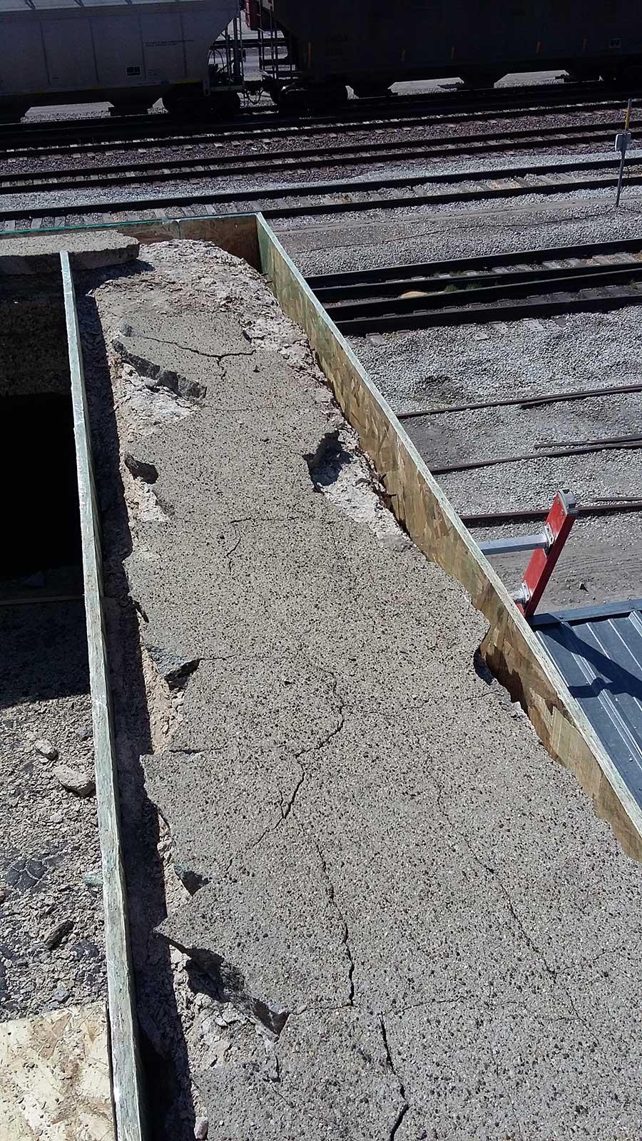 Failed coating and environmental damage to ridge cap
