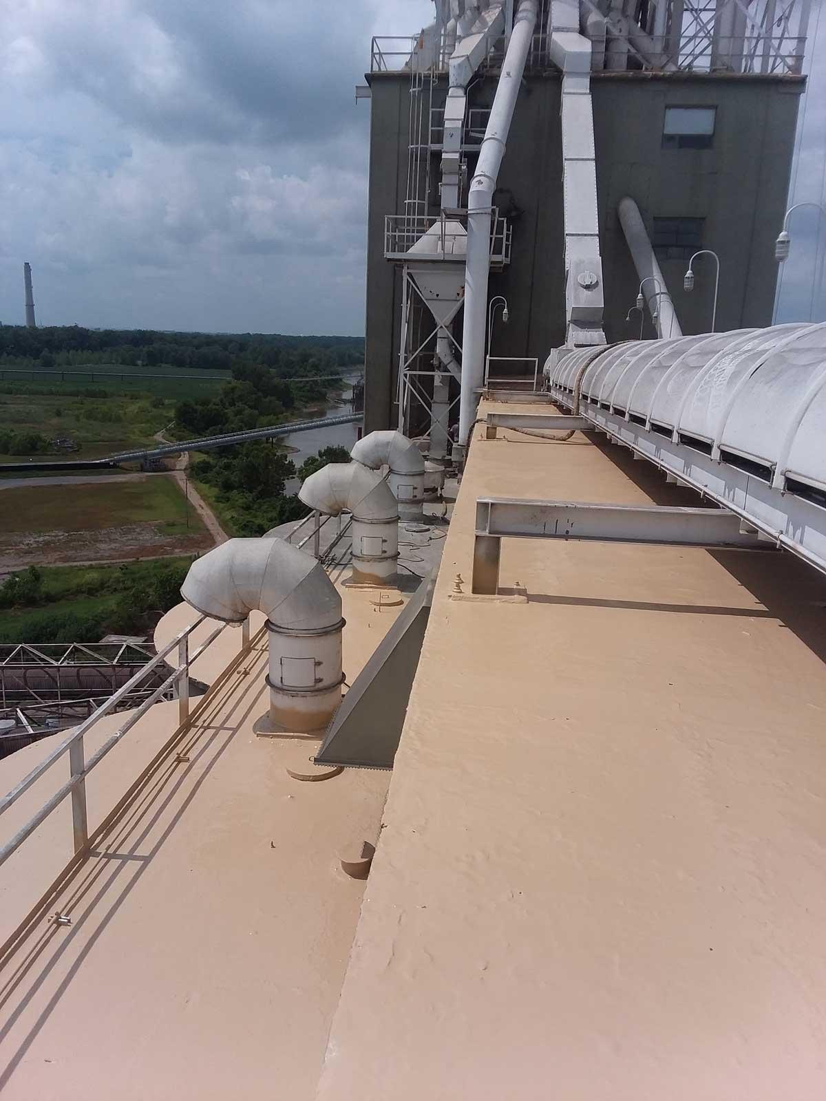 Polyurea Coating on Silo Rooftops